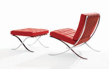 Barcelona chair by Mies van der Roh