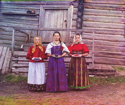 Prokudin-Gorsky's photograph of the three women in the Russian countryside of 1909 from Koolhaas's essay for Icon