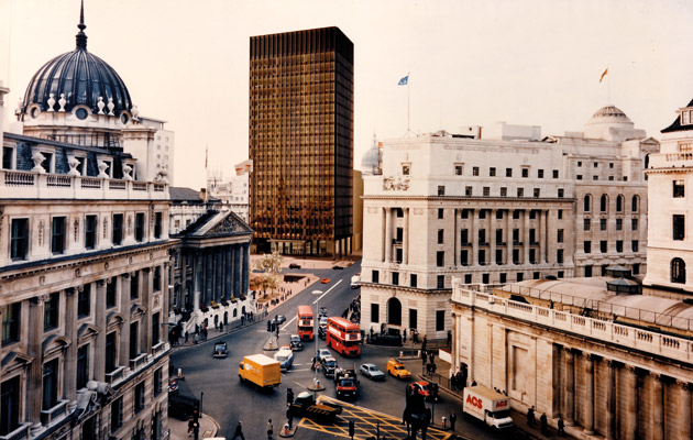 Mies van der Rohe's unrealised Mansion House Square proposal