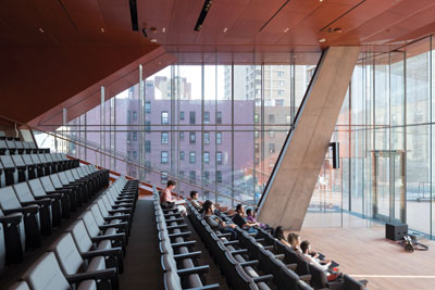 Inside the Vagelos Center auditorium: Diller Scofidio + Renfro's medical school in New York's Manhattan for Columbia University