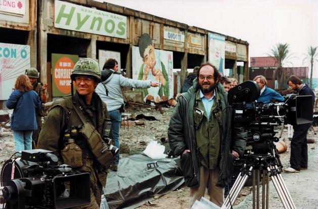 Stanley Kubrick on set preparing to shoot a scene in Full Metal Jacket ICON