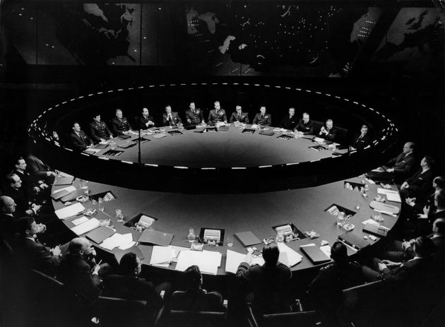 The war room from Dr Strangelove by Stanley Kubrick ICON